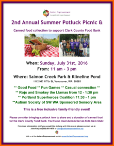 2nd Annual Summer Potluck Picnic @ Salmon Creek Park/Klineline Pond | Vancouver | Washington | United States